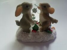 Charming Tails Catch'in Snowflakes Limited Edition Figurine 87/129