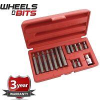 "Hex Allen Keys Set 15pc 1/2"" Drive Wrench Key Socket Bit Set Metric 4 - 12mm"