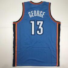 98ef7bf2810 New PAUL GEORGE Oklahoma City Blue Custom Stitched Basketball Jersey Men's  XL