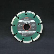Bosch Profesional 115mm Disco de Diamante Hoja Abrasivo Materiales, Bloques,