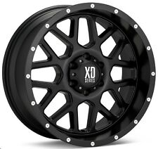 20 Inch Satin Black Wheels Rims XD Series XD820 Grenade Jeep Wrangler JK SINGLE