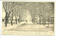 One of the Beautiful Streets of Holbrook Mass 1906 Holbrook & Chester NH Cancels