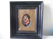 KPM Berlino Porcellana tedesca PLACCA dipinto a mano Madonna e bambino