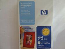 HP Premium Plus 4x6 Glossy Inkjet Printer Photo Paper 60 sheets 10mil