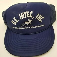 US Intec Inc Bitumen Roofing Systems Hat Cap Blue Snapback Used Adult Mesh Bl4