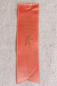 Vintage Chicago Tribune Golden Gloves 1953 Pink Boxing Ribbon South Selection