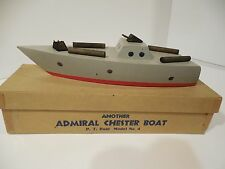 ORIGINAL 1940's ADMIRAL CHESTER TOY P.T. BOAT MINT IN THE BOX CHESTER TOY CO.