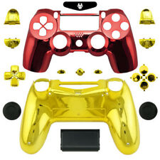 Iron Man Chrome Full Custom Replacement Shell Mod Kit Case for PS4 Controller