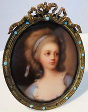 Antique Miniature on Porcelain of Grafin Potocka (Countess Sophie Potocka)