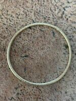 """Real Solid 14k Yellow Gold Bangle Love Bracelet For Ladies 3mm 8"""" Diamond Cut"""