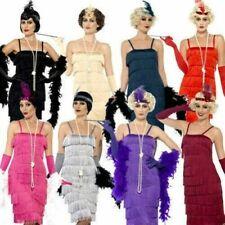 GRIGIA FRANGE Vestito Costume donna taglia L Sylvester CARNEVALE USATO 44672