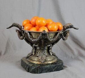 Heavy Decorative Bronzed Tazza Urn Centrepiece
