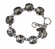 Catherine Popesco La Vie Parisienne Black Diamond Silver Bracelet 12 mm