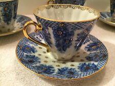 Russian Imperial Lomonosov Porcelain Tea Cup & Sauer Basket pattern