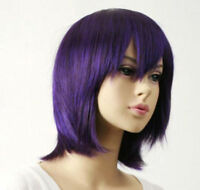 Hot Sell!NEW DARK PURPLE Short straight cosplay party wig+Gift