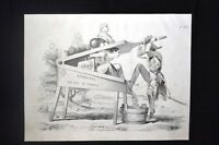 Incisione d'allegoria e satira Italia, Radetzky Don Pirlone 1851
