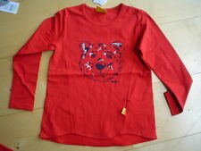 STEIFF winterfeeling LANGARMSHIRT mit Teddykopf, rot   gr. 92-110