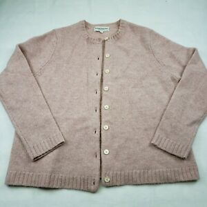 Vermont Country Store Women's Cardigan Dusty Mauve Pink Long Sleeve Large