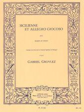 Sicilienne ET ALLEGRO giocoso POUR BASSON ET PIANOFORTE LIBRO di musica classica fagotto