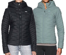 NEW UNDER ARMOUR COLDGEAR REACTOR HOODED JACKET Black/Opal Puffy Womens S-M-L-XL