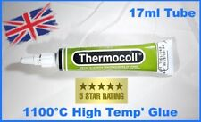 Woodburner / Stove Rope glue/adhesive Thermocoll 17ml tube 1100 c