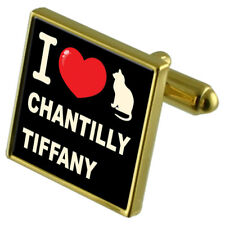 I Love My Cat Gold-Tone Cufflinks Chantilly-Tiffany