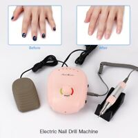 35000RPM Electric Nail File Drill Machine Manicure Pedicure Tool Set Kit