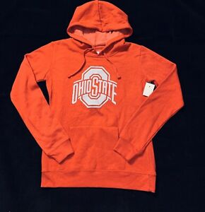 New NCAA Ohio State Buckeyes Men's Red Pullover Hoodie Logo Sweatshirt Size S