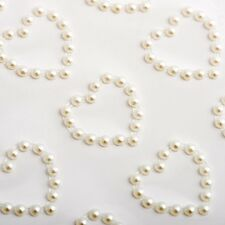 18 X 18mm Self Adhesive Pearl Heart Toppers Stick on Gems Wedding Invites Hearts