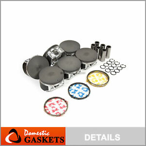 Pistons and Rings fit Infiniti G35 M35 Nissan 350Z Pathfinder 3.5 VQ35DE