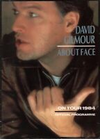 DAVID GILMOUR 1984 ABOUT FACE TOUR CONCERT PROGRAM BOOK / WITH INSERT / VG 2 NMT
