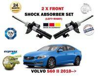 FOR VOLVO S60 T3 T4 T4F T5 D3 D4 D5 2010-> 2 x FRONT SHOCK ABSORBER SHOCKER SET