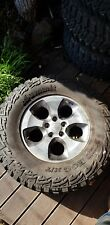 "Jeep Wrangler 5 x 18"" wheels with 35"" mud tyres"