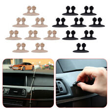 8 X Cable Tidy Drop Car Clip Wire Organiser Vehicle Cord Charger Holder
