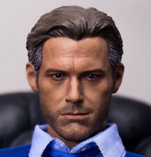 █ first-rate Ben Affleck Smile 1/6 Head Sculpt for HotToys Bruce Wayne Custom █