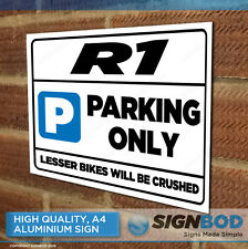 R1 Owner Parking Metal Sign Gift - Birthday Present