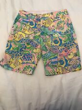 Lilly Pulitzer Bermuda Shorts Party School Fish Size 2 Rare & HTF!!