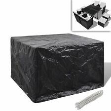 vidaXL Garden Furniture Cover 4 Person Poly Rattan Set 8 Eyelets 113x113cm