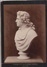Großes Kartonfoto Goethe Alexander Trippel Rom 1790 Weimar Büste Skulptur