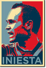 ANDRES INIESTA ART PHOTO PRINT (OBAMA HOPE PARODY) POSTER GIFT FOOTBALL