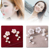 Stud Earrings 1Pair Lady Elegant Crystal Rhinestone Ear Women Fashion Jewelry MT