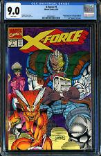 "X-FORCE #1 (MARVEL COMICS 8/1991) POLY-BAG REMOVED, ""NEGATIVE"" UPC CGC 9.0 VF/NM"