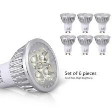 6X 4W AC110-220V GU10 LED Bulb Light White 40W 6000k Recessed Track Light