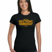 Nostromo T-Shirt Außerirdische Retro Alien Film Herren Sci-Fi Film Distressed