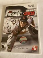 WII MLB MAJOR LEAGUE BASEBALL 2K9 2009 VIDEO GAME COMPLETE W/ MANUAL