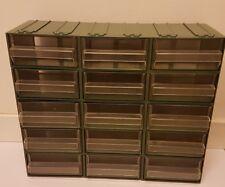 Cassettiera 15 cassetti trasparenti porta minuterie utensili meccanico viti
