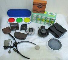 Vintage Camera Accessories, Kodak & Century Lens, Film Cutter, Filters, Flash