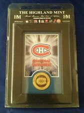 MONTREAL Canadiens NHL Licensed BRONZE Coin WOOD Frame USA NIP Highland Mint SG