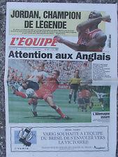 L'Equipe du 16/6/1998 -  Foot : attention aux Anglais - L'Allemagne - M. Jordan