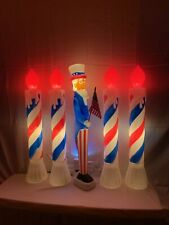 New 5-pc. Lighted Uncle Sam/Patriot Candles—Union Holiday Blow Molds